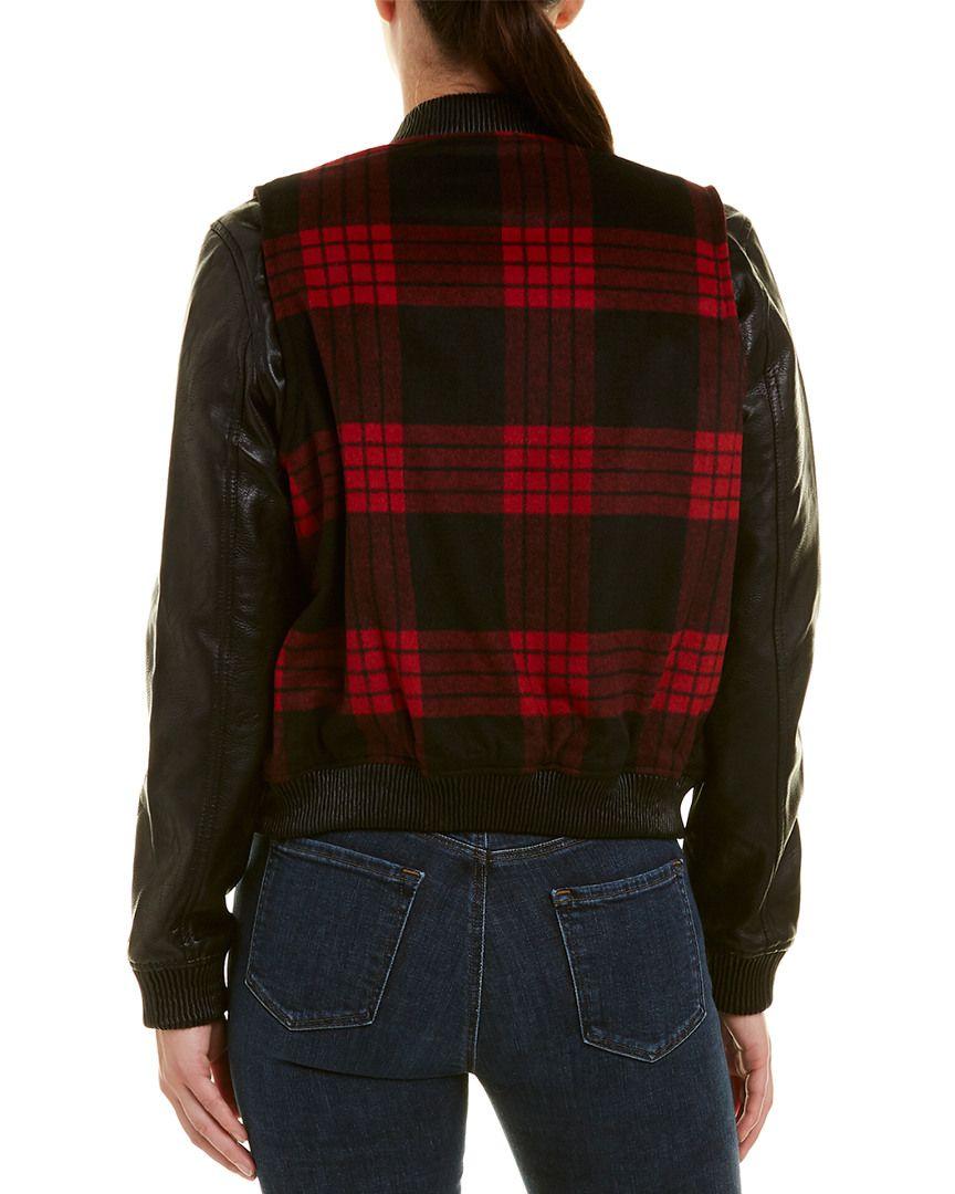 Blank Nyc Buffalo Plaid Bomber Jacket