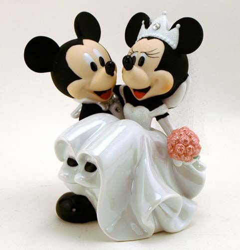 Mickey and Minnie Mouse Wedding Cake Topper Figurine - Disney Disneyana Collectibles