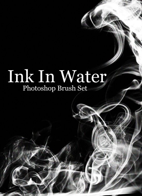 A Free Ink In Water Photoshop Brush Set Photoshop Brush Set Ink