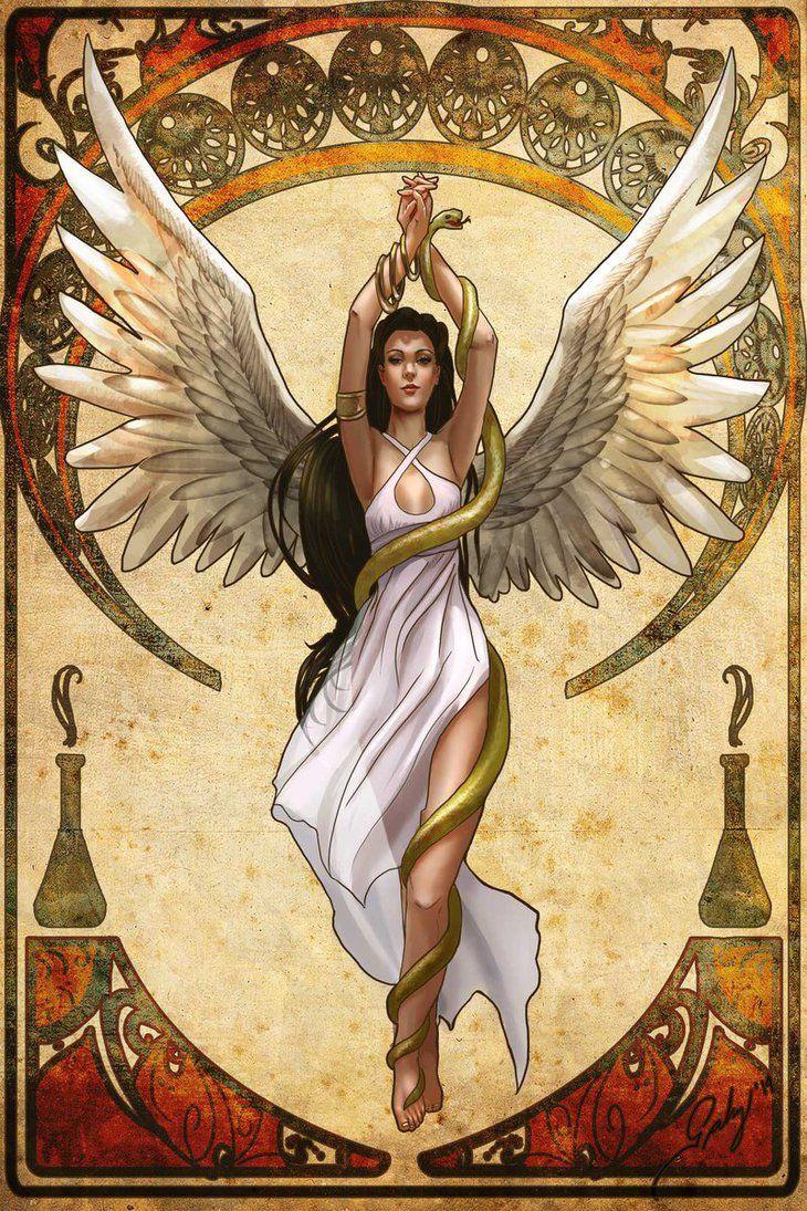 Hygeia Health Goddess Nouveau By Phoenixnightmare On