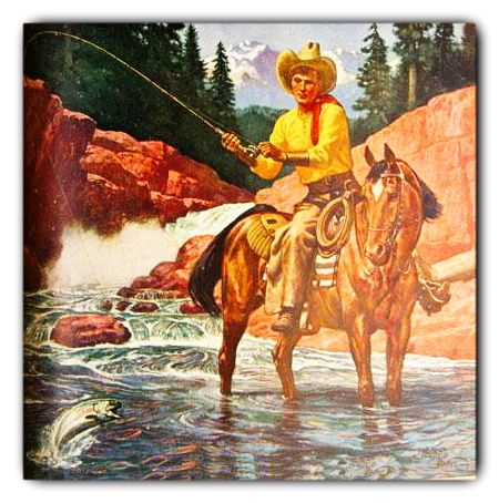 'The cowboy way' Outdoor Life illustration 1941
