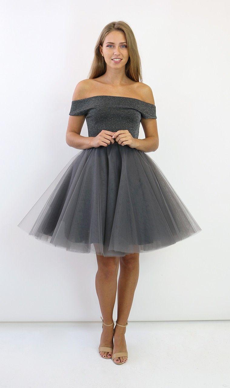 J Studio Margot Grey And Glitter Tutu Dress Jones Fashion