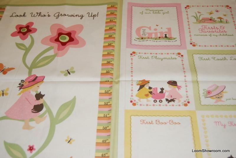 Growth Chart Quilt Patterns Theme Fabric Little Golden Books