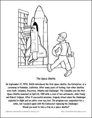 chocolate milkshake recipe and coloring pages - Nasa Space Shuttle Coloring Pages