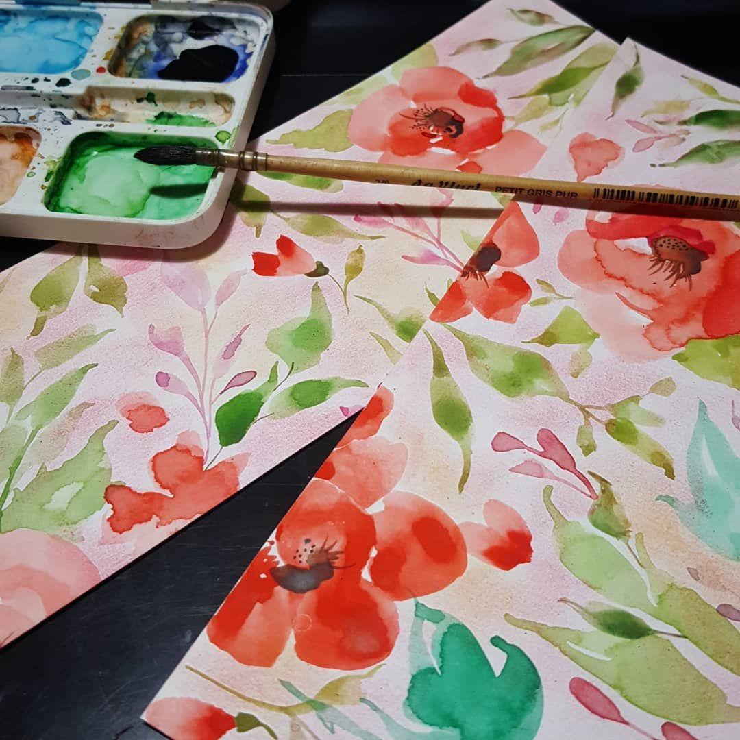 Kapak Oldu Floraldesign Watercolor Aquarelle