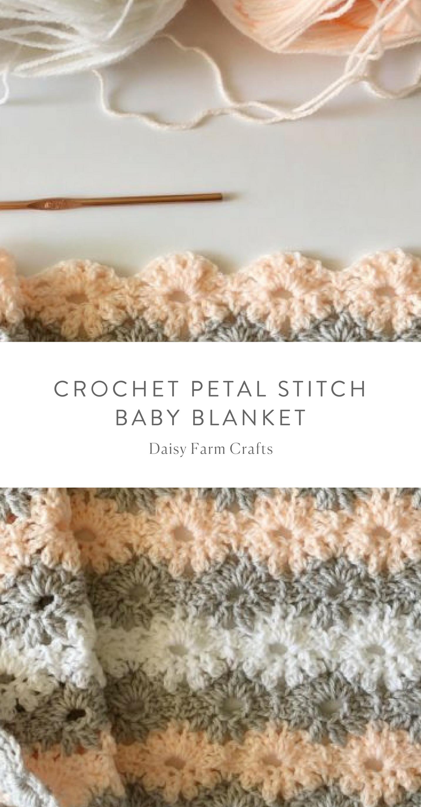 Free Pattern - Crochet Petal Stitch Baby Blanket #crochet | baby ...