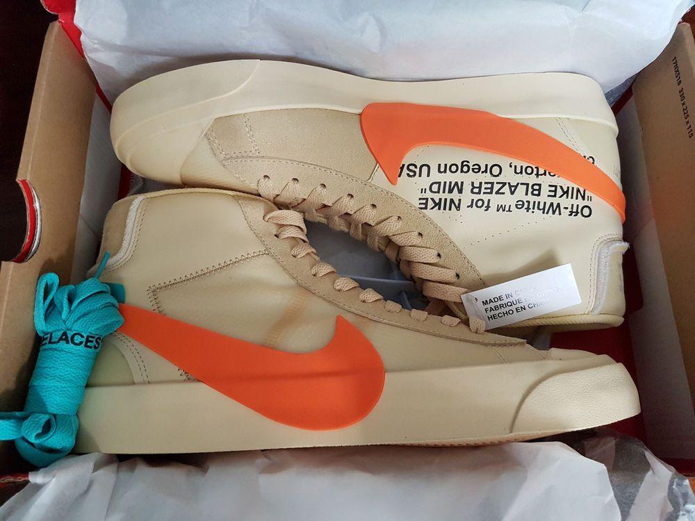 4d6719788010 Off-White x Nike Blazer Orange Hallow s Eve - UK 10 - US 11 - EU 45 ...