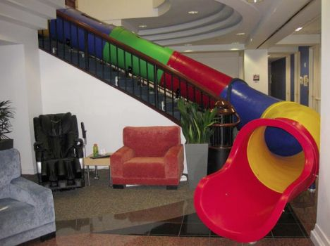 Slides Help Make Architecture Active and Fun Stair slide Google