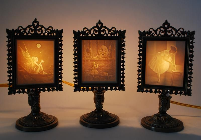 Lithophane Lamps By Porcelain Garden Lamp Novelty Lamp Antiques