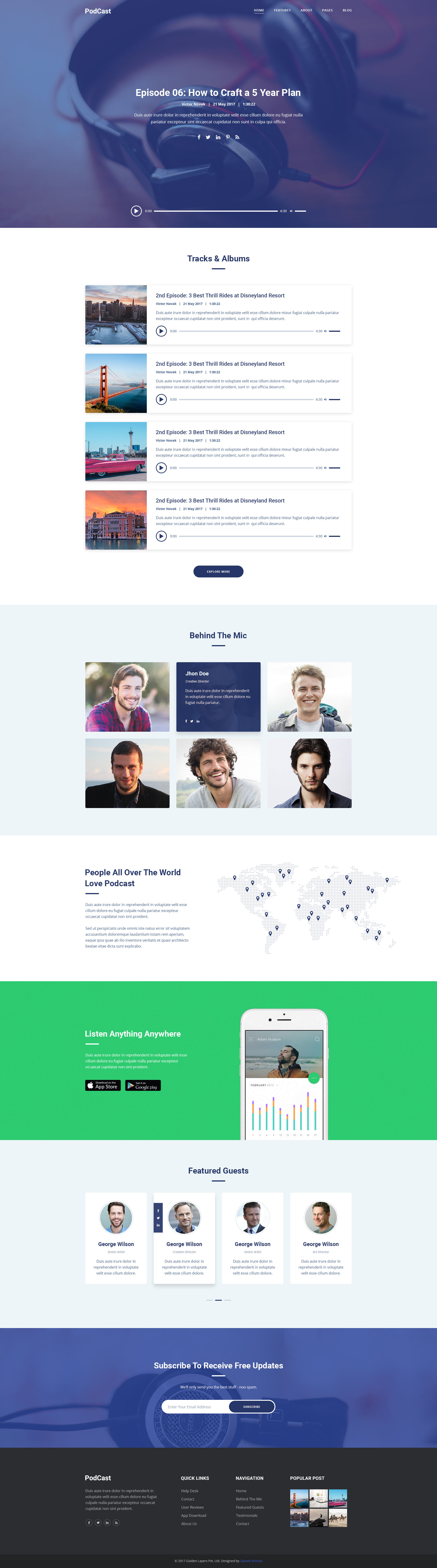 HttpsdribbblecomshotsOnlineRadioorPodcastWebsite - Podcast website template