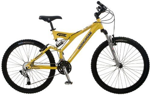 Mongoose Tech 4 Men S Dual Suspension Mountain Bike 26 Inch Wheels
