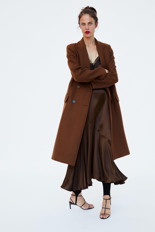 e04e3092 ZARA - MUJER - ABRIGO CRUZADO Midi Dress Outfit, Coat Dress, Dress Outfits,