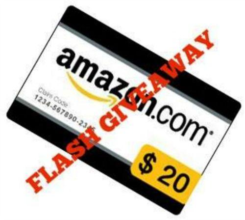 20 Amazon Gift Card Flash Giveaway Ends 5 4 Http Kouponkrazed
