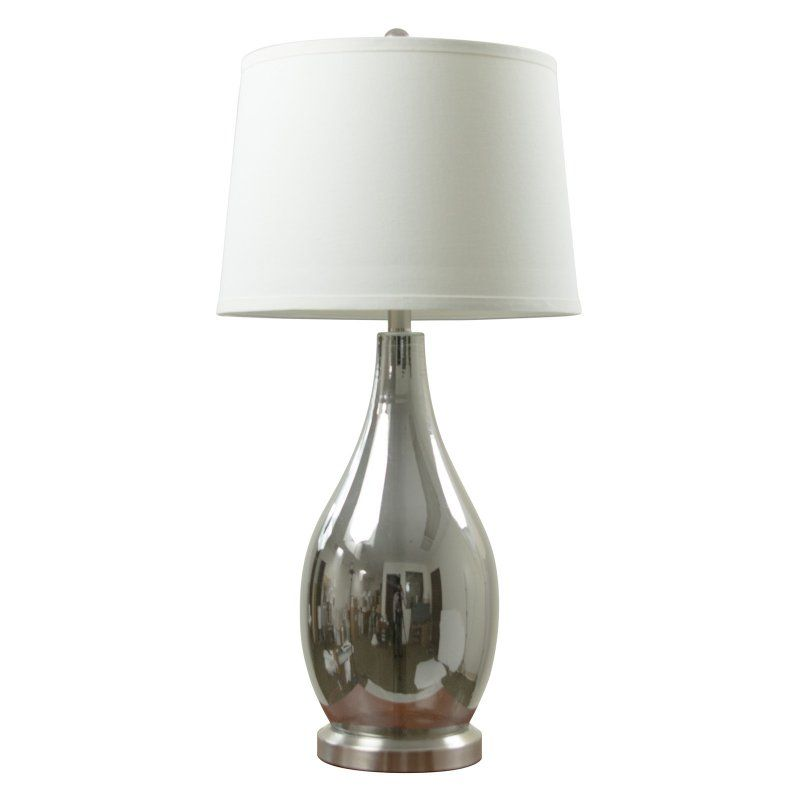 Anthony California 31 In Gl Chrome Table Lamp Set Of 2