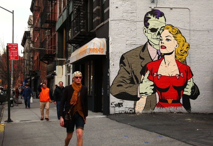 Street Art by D*Face #graffiti #streetart