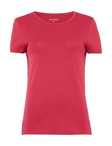 T Shirt aus reiner Baumwolle Lila … | Mens tops, Tops, Style