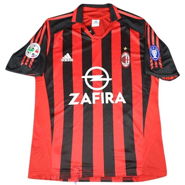 Camisetas De Futbol Imitacion 1ª Ac Milan Retro 2005 2006 Rojo ...
