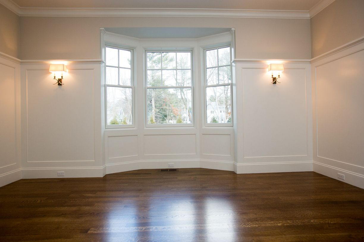 Bay Window Empty Room Bay Window Wood Bedroom Home