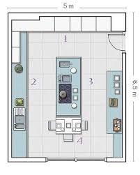 Resultado De Imagem Para Plano Cocina Isla Central Projeto De - Cocinas-con-isla-medidas