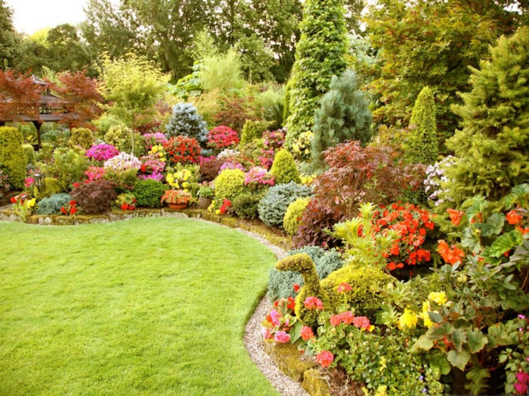 Flower Garden Ideas With Roses garden and lawn ideas flowers wallpaper (5)beautiful flower garden