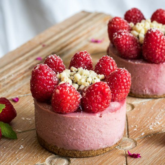 White Chocolate Raspberry Cheesecake - great for your Instant Pot because they are small and compact!