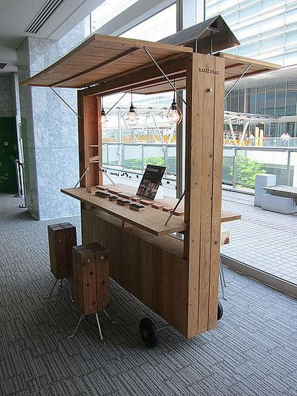 What a cool desk for coworking atwork pinterest for Bar movil de madera