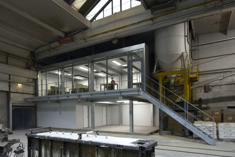 Architekten Mönchengladbach errichtung eines produktionsbüros bei laufendem betrieb