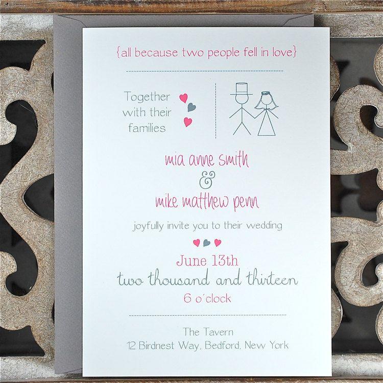creative wording for rehearsal dinner invitations%0A Wedding Invitations Wedding Invites by SweetBellaStationery