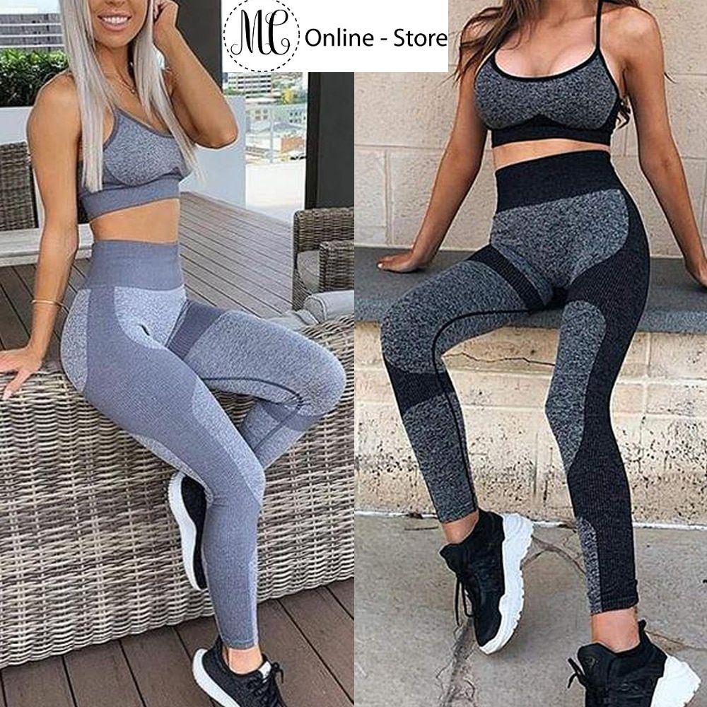 New Seamless Yoga Set Women Sportwear Gym Leggings Sports Bra Set