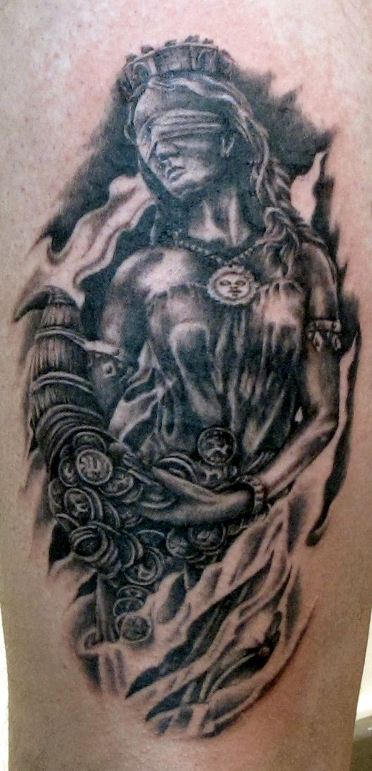 Fortuna Göttin Tattoo