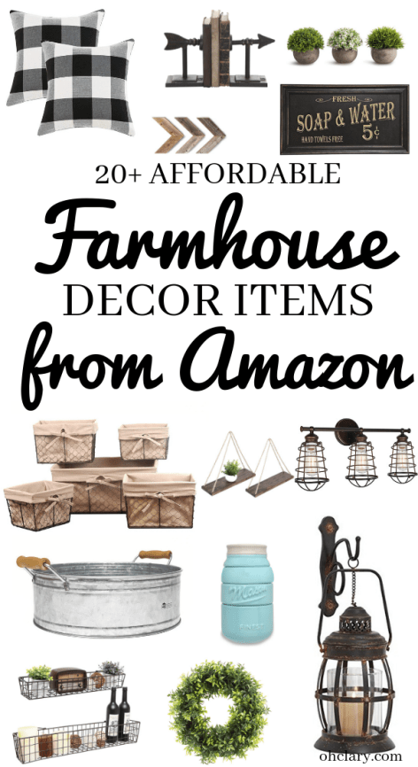 20 Farmhouse Finds On Amazon That Are Affordable & Beautiful The 2019 guide! You really need to check out these Amazon farmhouse decor finds if you are looking at decorating your home on a budget with a modern farmhouse style. Get the fixer-upper look for less! #farmhousedecor #farmhousestyle ...Rustic handmade wardrobe cabinets give extra storage as well giving and old world sophistication to the room. So You Asked Our #1 Question?Why...we're excited to share them here with you today.We're sure