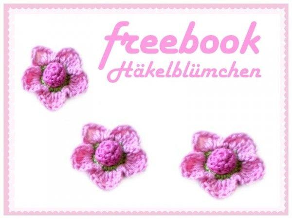 gratis Anleitung Blumen-Applikation 3D-Deko   # Crochet ...