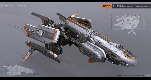 Sci-Fi Spacecraft Concept Art (page 2) - Pics about space