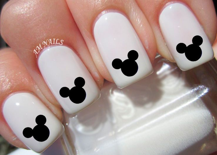 Mickey Mouse Ears Nail Art Stickers Transfers Decals Set of 36 ...