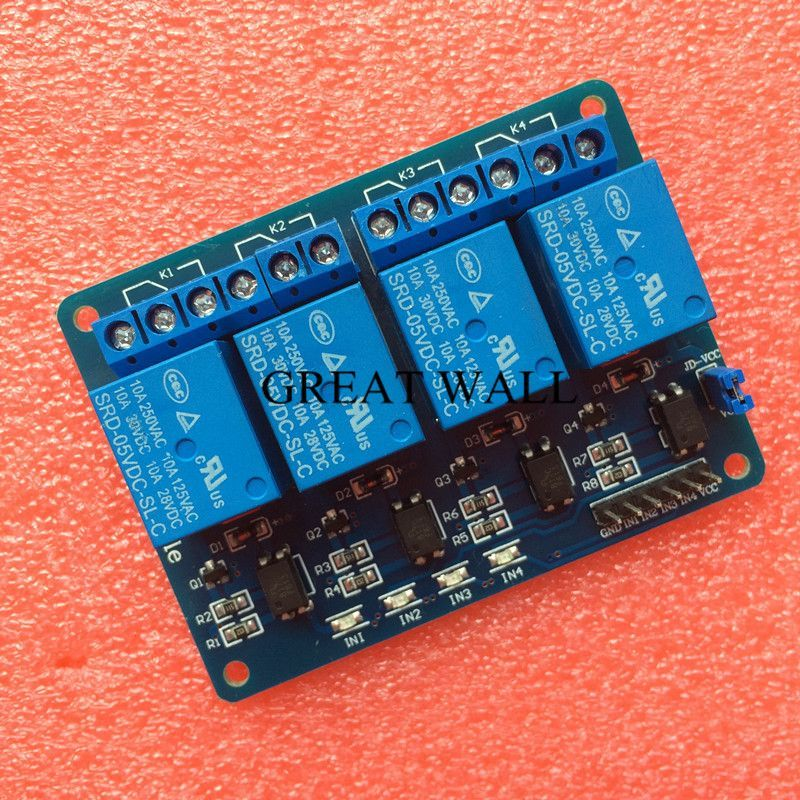 1pcs Lot 4 Channel Relay Module 4 Channel Relay Control Board With