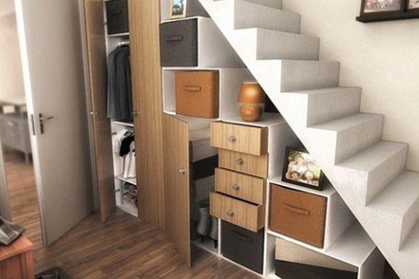 utilisation sous escalier - Recherche Google Sous escalier - porte de placard sous escalier
