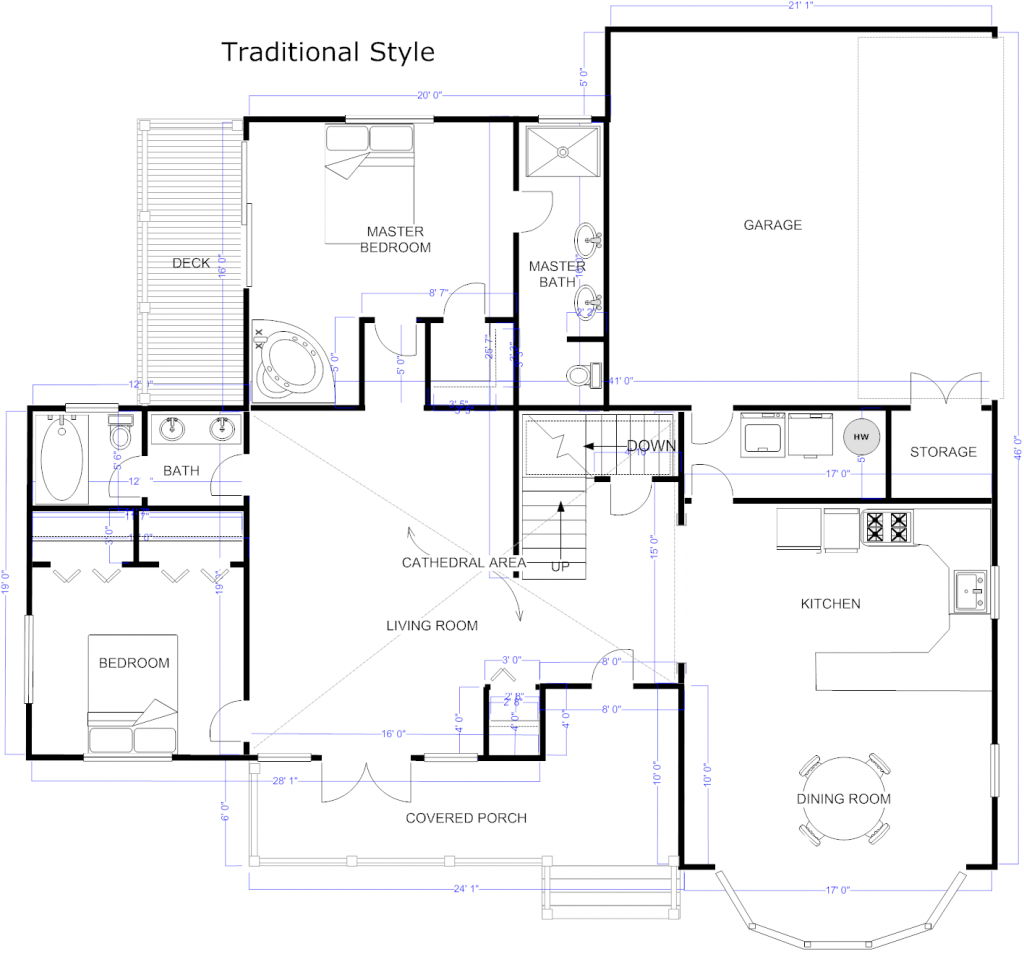 Simple way to design your home home design software traditional home design drawn using Free house plans