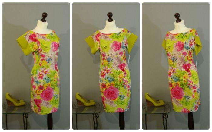 Платье с яркими цветами фото