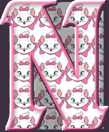 Alfabeto Decorativo: Alfabeto - Marie - PNG