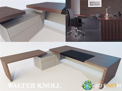 Office Table and Chair 3D Models Modern Office Furniture 2017