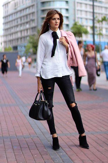 Get this look: http://lb.nu/look/8474367  More looks by Marianela Yanes: http://lb.nu/marilynscloset  Items in this look:  Zara Jacket, Zara Pants, Zara Shirt   #chic #classic #elegant