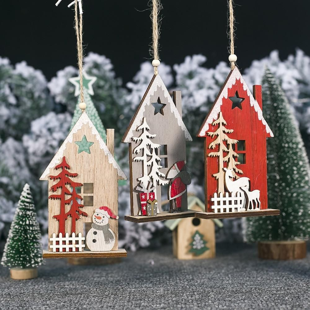 Model Number:christmas decorations for homesize include rope:9*26cmmerry christmas:party decorationschristmas decorations for home:adornos de navidadnew year party decorations:christmas decorparty favors:kids giftXmas:navidad 2020Natale Decorazioni:Decoracion NavidadXmas Decoration:Kerstcreative wooden hollow colorful house christmas tree decorations elk showman christmas decorations for home Xmas new year decorNote: Dear, this part of the house has a glue that is easy to fall off.you need to gl