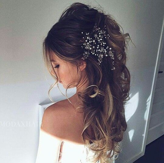 Loose Curls And Fascinator Vintage Wedding Hair Wedding