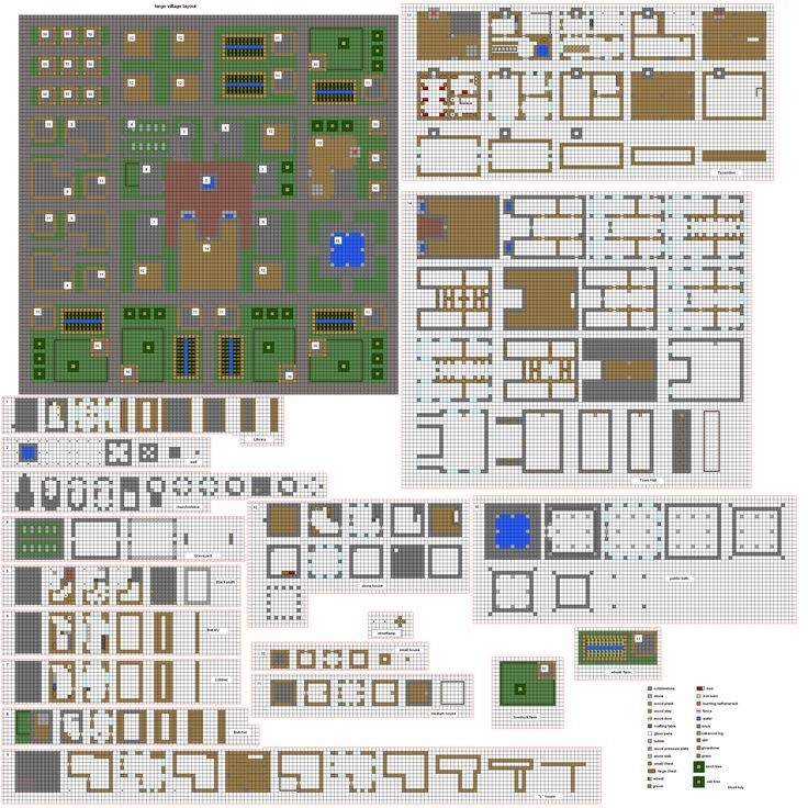 Minecraft House Blueprints Mansion Layer By Layer