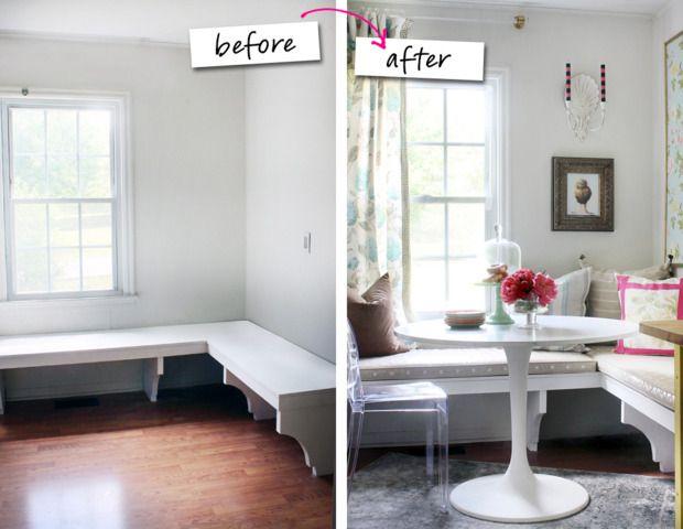 12 Ways to Elevate Your Kitchen Nook Banquette seating, Banquettes - kleine eckbank für küche