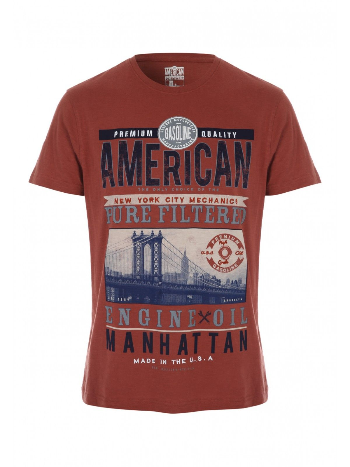 Get A Slice Of The American Dream With This Mens Manhattan Print T