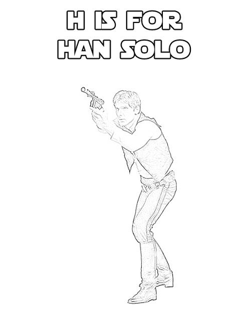 Star Wars Alphabet Coloring Page - H is for Han Solo   Pinterest ...