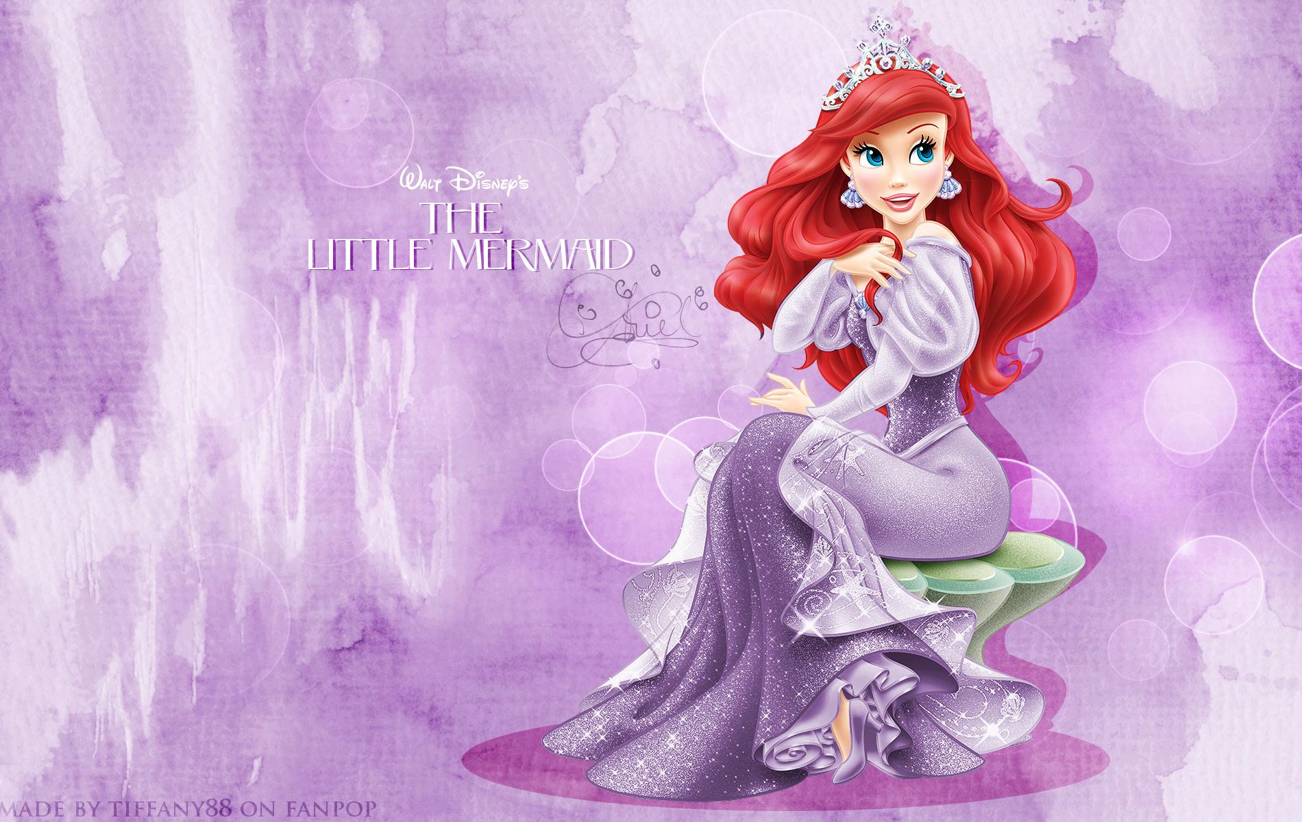 The dress ariel wore - Disney Princess Ariel Hd Wallpapers