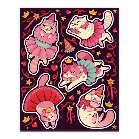 Cute+Princess+Cat+Stickers