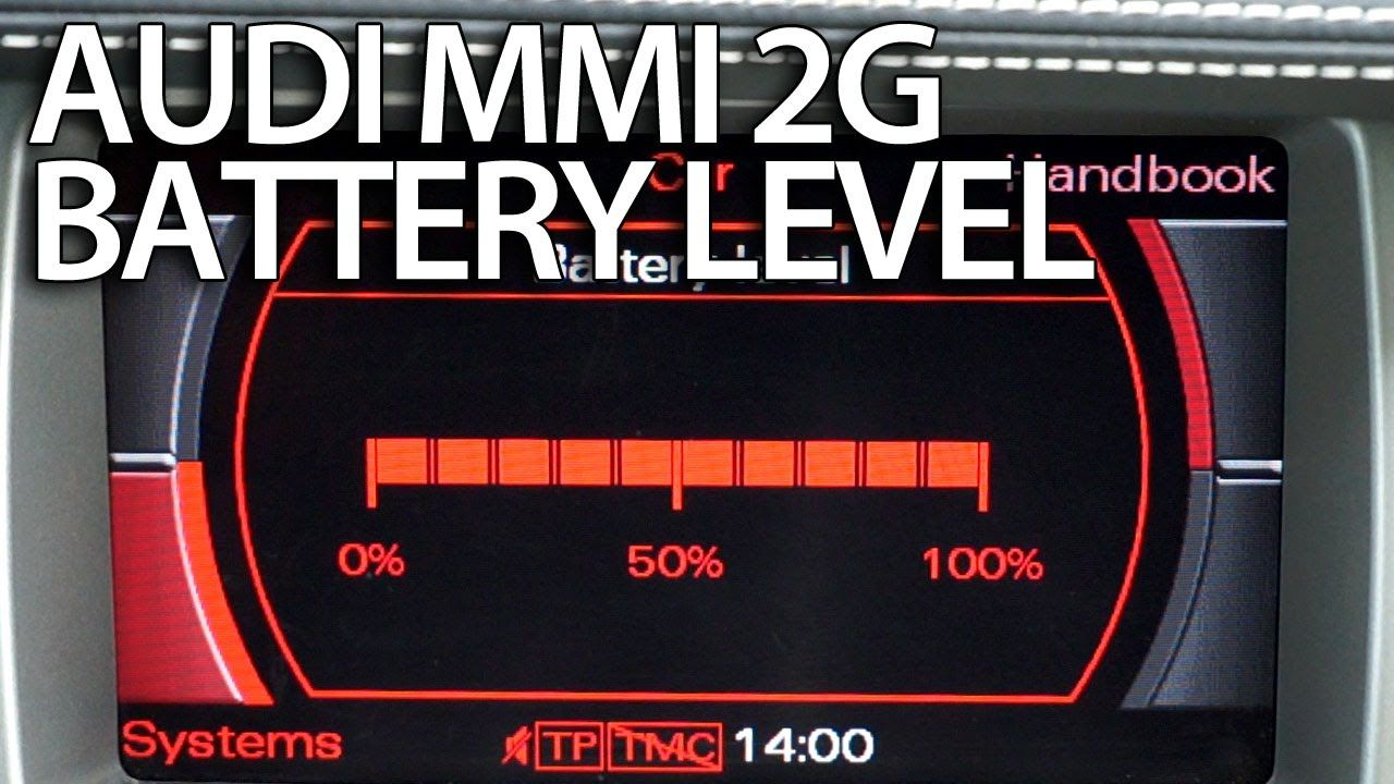 How to activate battery level #Audi MMI 2g #A4 #A5 #A6 #A8 #Q7
